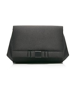 LaRegale® Black Large Full Bow Flap Clutch