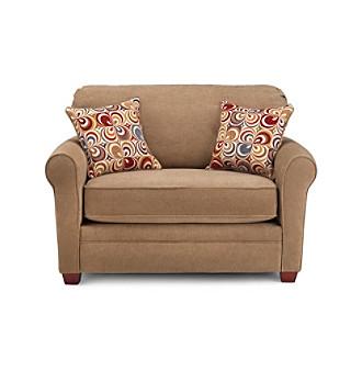 Product Lane Sunburst Truffle Twin Sleeper Sofa with iRest Gel Infused Foam Mattress
