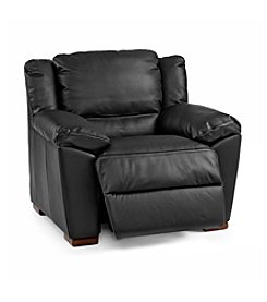 Natuzzi Editions® Genoa Black Leather Recliner