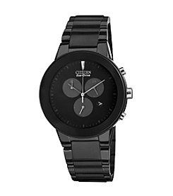 Citizen® Eco-Drive Men's Black Ion Plated Axiom Chronograph Watch