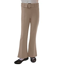 French Toast® Girls' 4-18.5 Plus Pull-On Self Belt Pants