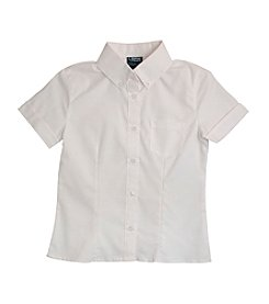 French Toast® Girls' 4-20 Short Sleeve Oxford Blouse With Darts