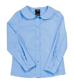 French Toast® Girls' 2T-20 Long Sleeve Feminine Fit Peter Pan Blouse