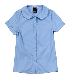 French Toast® Girls' 2T-20 Short Sleeve Feminine Fit Peter Pan Blouse