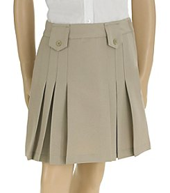 French Toast® Girls' 4-20 Front Pleated Skirt With Tabs
