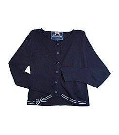 French Toast ® Girls' 2T-6X Navy Sweater with Ribbon Trim