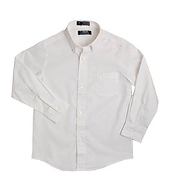 French Toast® Boys' 2T-20 Long Sleeve Oxford Shirt
