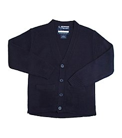 French Toast® Boys' 6-18 Anti-Pill V-Neck Cardigan
