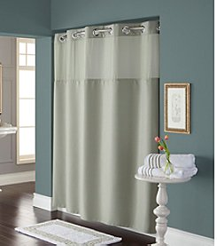 Hookless® Diamond Pique Mystery Shower Curtain and PEVA Liner