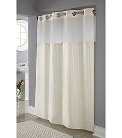Hookless® Herringbone Shower Curtain and PEVA Liner