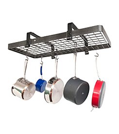 Enclume Low Ceiling Rectangle Hanging  Pot Rack with Grid