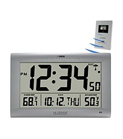 La Crosse Technology® Large Digital WWVB Clock with Outdoor Temperature Display