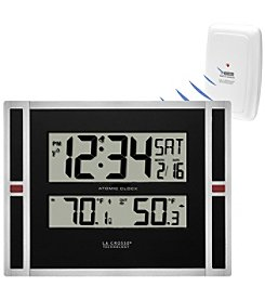 La Crosse Technology® WWVB Digital Clock with Indoor/Outdoor Temperature Display