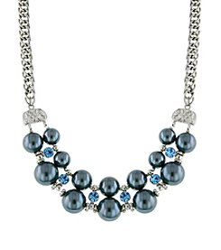 1928® Jewelry Double Grey Pearl Strand Beaded Necklace