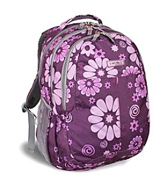 J World® Cornelia Purple Flower Laptop Backpack