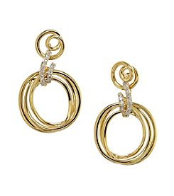 Effy® .09 ct. t.w. Diamond Earrings in 14K Yellow Gold