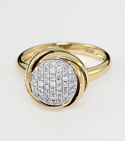 Effy® .28 ct. t.w. Diamond Cluster Ring in 14K Yellow Gold