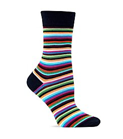 Hot Sox® Thin Multi Stripe Trouser Socks