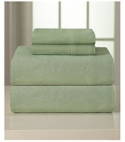Pointehaven Heavy-Weight Solid Flannel 4-pc. Sheet Set