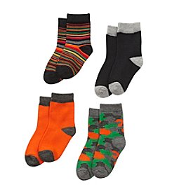 Statements Toddler Boys' 4-pack Striped And Camo Socks
