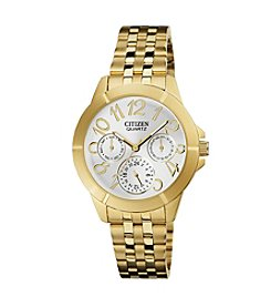 Citizen® Quartz Goldtone Women's Day Date Watch
