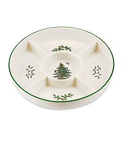 Spode® Christmas Tree 5-Section Hors D'oeuvres Low Platter