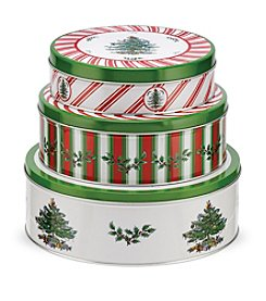 Spode® Christmas Tree by Pimpernel Set Of Three Nesting Cake Tins