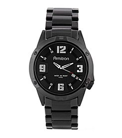Armitron Men's 42mm Black IP Stainless Steel and Black Dial Bracelet Watch