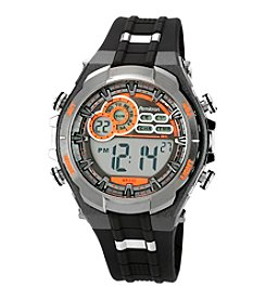 Armitron Sport Men's Digital Chronograph Gray Resin Strap Watch