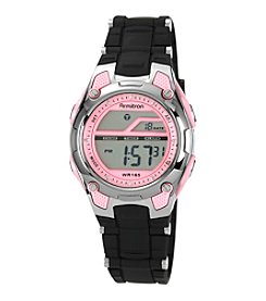 Armitron Women's Pink and Black Chronograph Digital Sport Watch