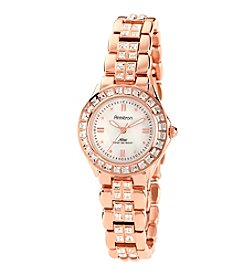 Armitron Women's NOW Crystal Accented Rose Goldtone Dress Watch
