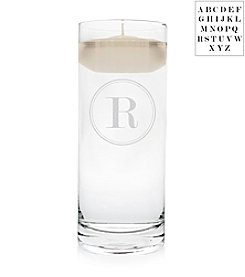 Cathy's Concepts Personalized Circle Monogram Floating Unity Candle