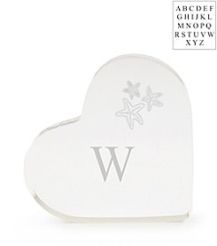 Cathy's Concepts Personalized Beach Wedding Acrylic Heart Cake Topper