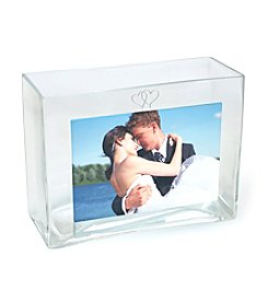 Cathy's Concepts Wedding Reception Rectangular Glass Photo Vase