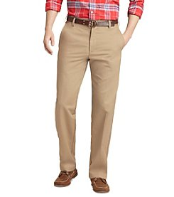 IZOD® Men's American Slim-Fit Flat Front Chinos