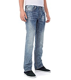 Buffalo by David Bitton Men's Dust Blue Slim-Straight Fit 'Bullet' Denim
