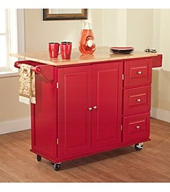 Target Marketing Systems Kitchen Cart with Drop Leaf