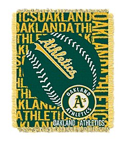 MLB® Oakland Athletics Jacquard Throw