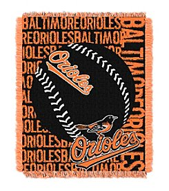 MLB Baltimore Orioles Jacquard Throw