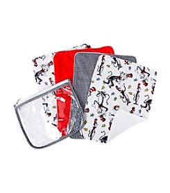 Trend Lab Dr. Seuss Cat in the Hat Burp Cloth and Pouch Set