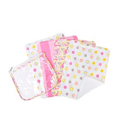 Trend Lab Dr. Seuss Pink Oh, the Places You'll Go! Burp Cloth and Pouch Set