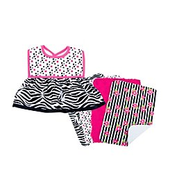 Trend Lab Zahara Zebra Dress Up Bib and Burp Cloth Set