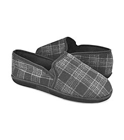MUK LUKS Men's Black Multi Plaid Slip On Slippers