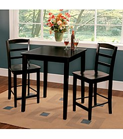 International Concepts 3-pc. Black Counter Height Dining Set