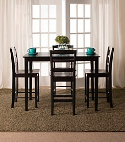 International Concepts 5-pc. Black Counter Height Dining Set