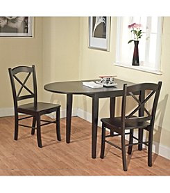 Target Marketing Systems 3-pc. Tiffany Drop Leaf Dining Set