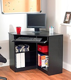 Target Marketing Systems Oxford Black Corner Desk