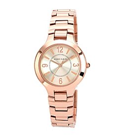 Anne Klein® Women's Modern Link Rose Goldtone Bracelet Watch