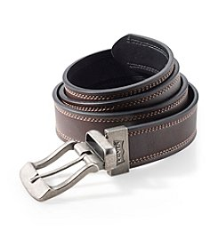 Levi's® Men's Brown/Black Big & Tall Cut Edge Reversible Leather Belt