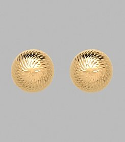 14K Yellow Gold 10mm Dome Stud Earrings